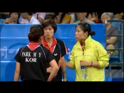 Table Tennis - Park Mi Young vs.Tianwei Feng -Team Women Semifinal - Olympics 2008