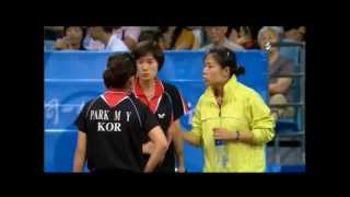 2008 Olympics - Park Mi Young (KR vs. SG) Tianwei Feng, Table Tennis Team Women Semifinal  Part 1