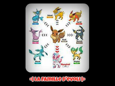 La famille d 39 evoli youtube - Famille evoli pokemon ...
