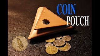 Making A Triangular Leather Coin Pouch