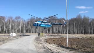 Ми-8 работает на Казанском месторождении Томская о