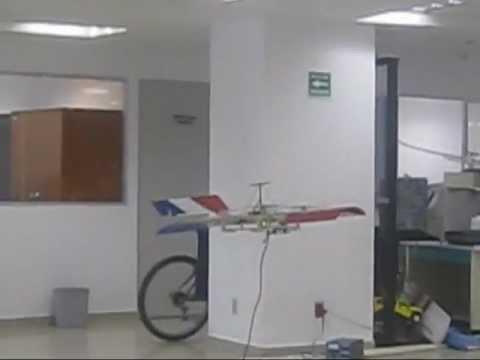 Mini-Unmanned Aerial Vehicle (Spatial position test) La Raie Manta 3