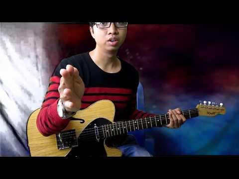 Belajar teknik gitar Melody Nada Dasar C - Fender Telecaster Hollow # Guitar lesson