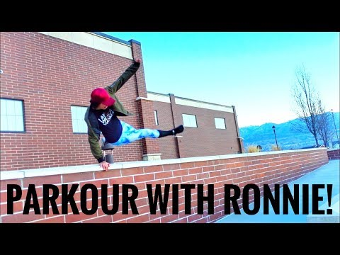 Tsunami + Ronnie Street Stunts! Mini Parkour Demo