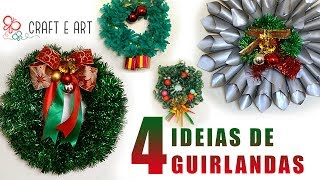 DIY 4 GUIRLANDAS NATAL 2017 :: CRAFT E ART ARTESANATO