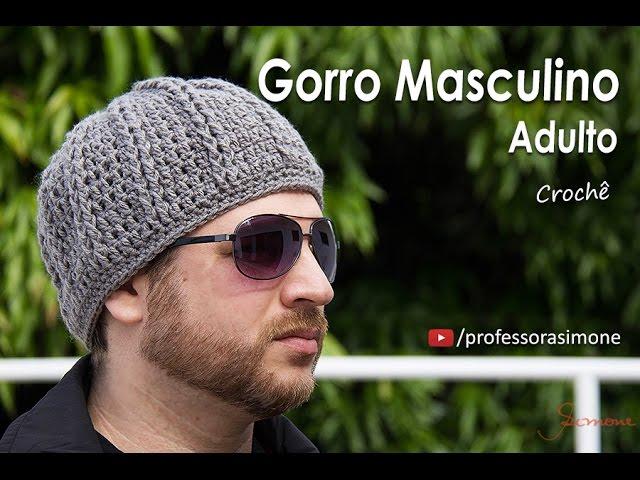 Gorro de Crochê Masculino Adulto - Professora Simone - 123vid 95b8f44c8a5