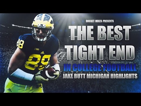 The Best Tight End in College Football - Jake Butt Ultimate Michigan Highlights