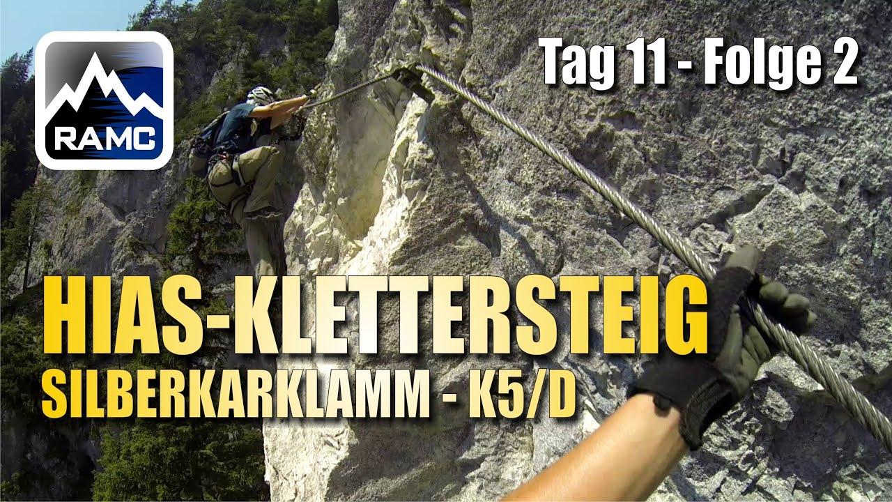 Klettersteig Ramsau : Hias klettersteig silberkarklamm k5 d ramsau am dachstein