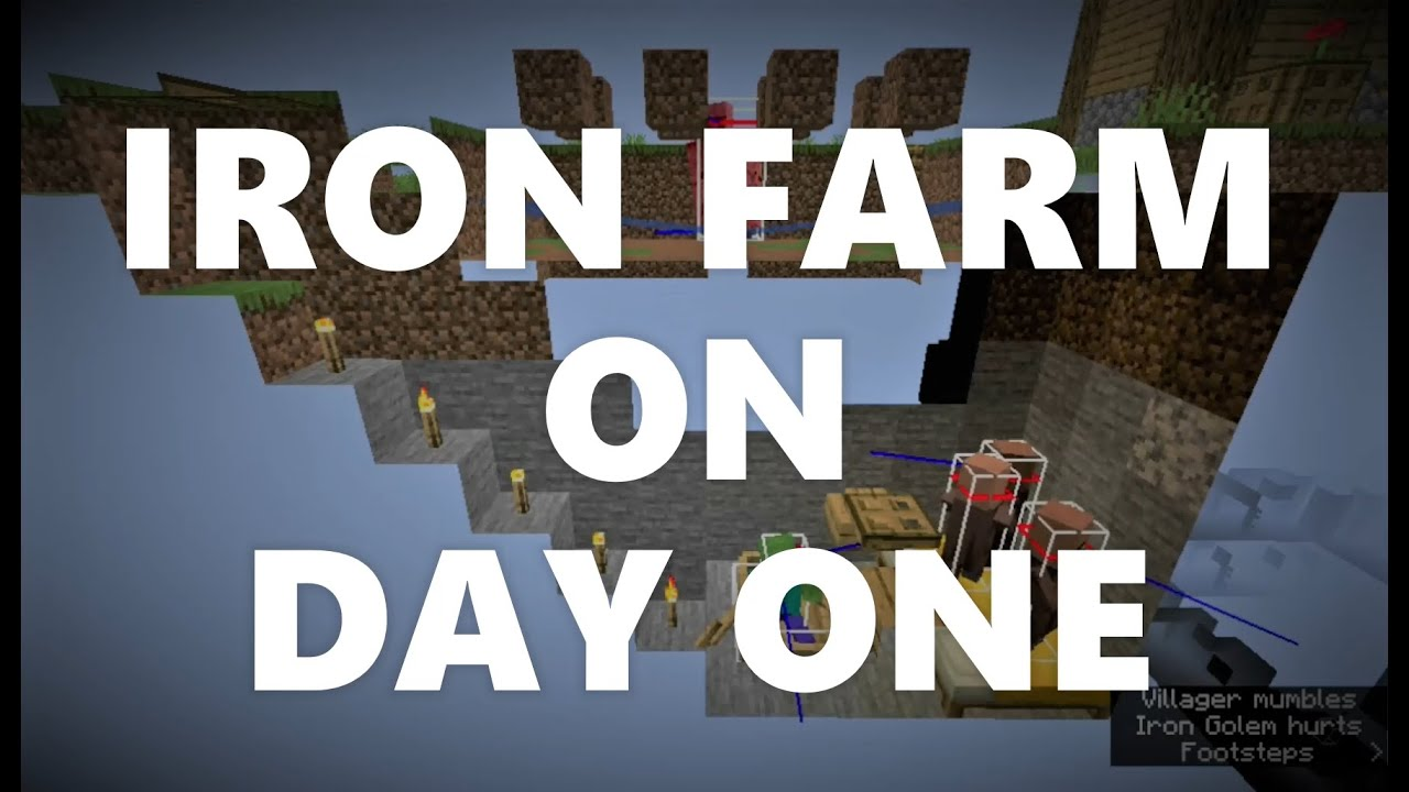 Download Minecraft Elegance: Iron Farm on Day 1 of Survival (Java 1.16-1.17)