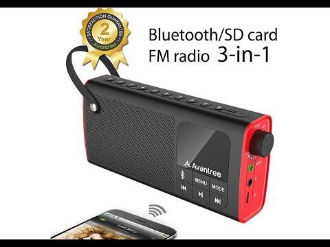 Review Avantree Portabler Bluetooth Lautsprecher Mit FM Radio Und SD Card Player,