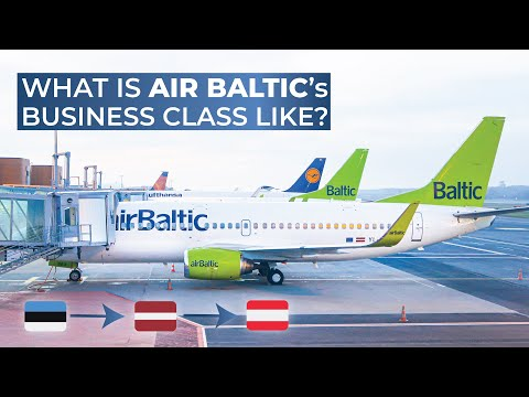 TRIPREPORT | Air Baltic (BUSINESS CLASS) | Tallinn - Riga - Vienna | Boeing 737