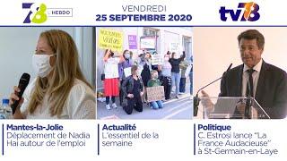 7/8 L'Hebdo. Edition du vendredi 25 septembre 2020