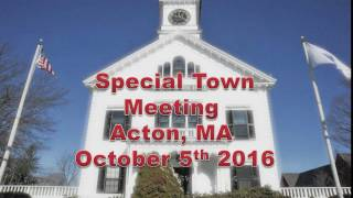 Town Meeting 10/5/16