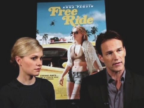 "Anna Paquin, Stephen Moyer talk ""Free Ride"""