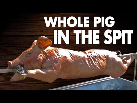 The BEST Way To Roast A Pig - How To ROAST The WHOLE PIG In The Spit - Lechon | Salty Tales