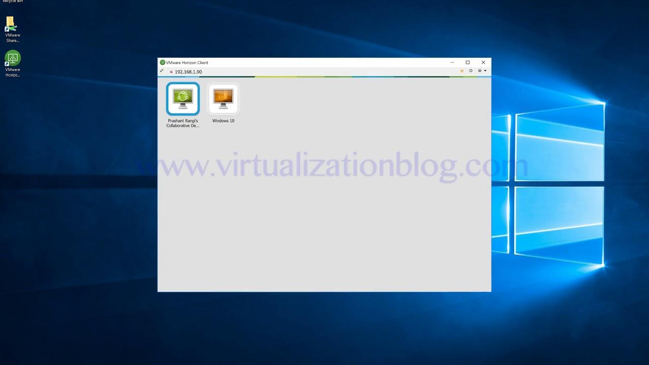 User Session Collaboration using VMware Horizon
