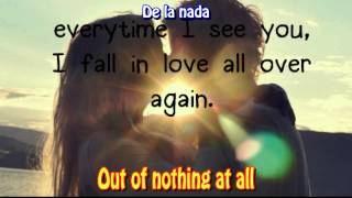 Making love out of nothing at all - Air Supply (Letras Ingles y Español)