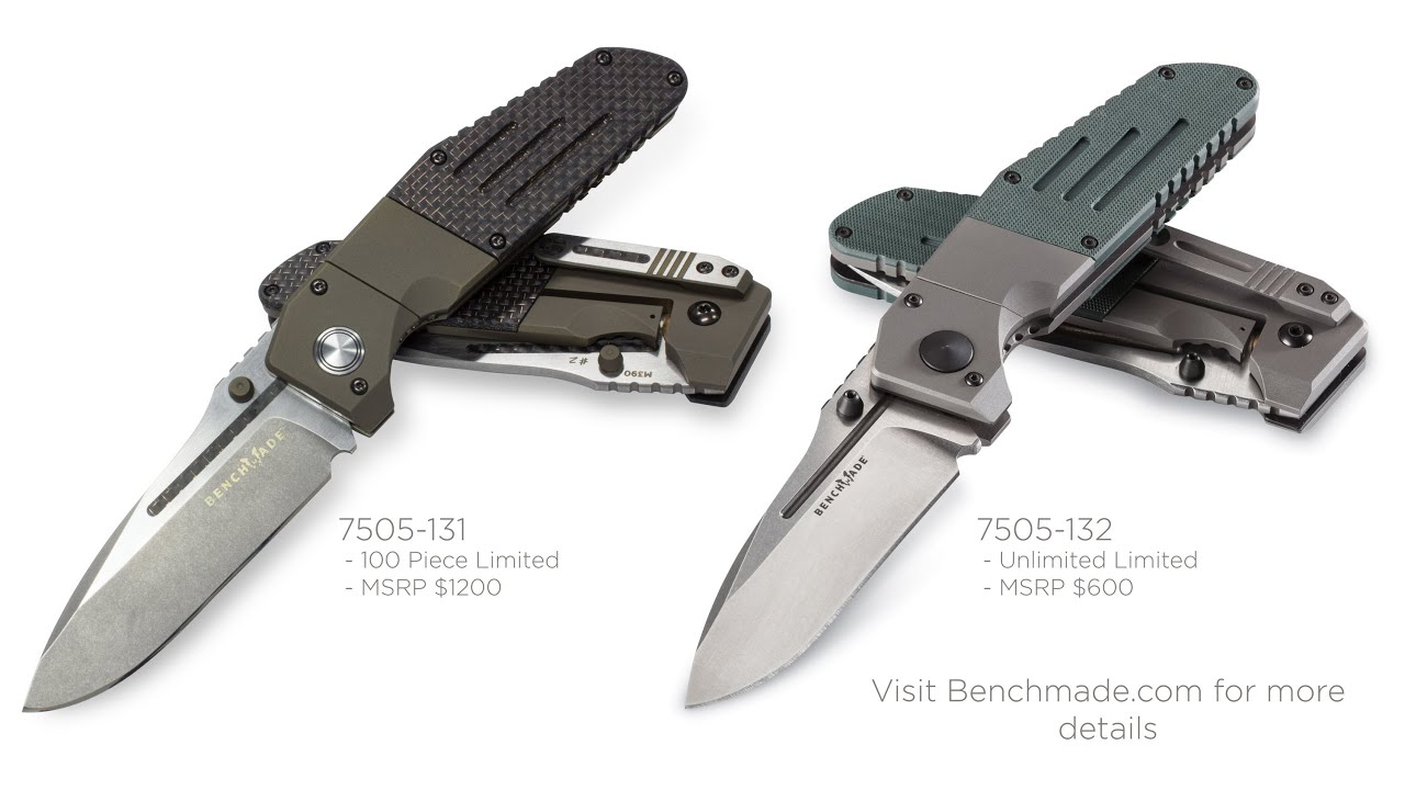 Benchmade's New 7505-131 and 7505-132 - YouTube