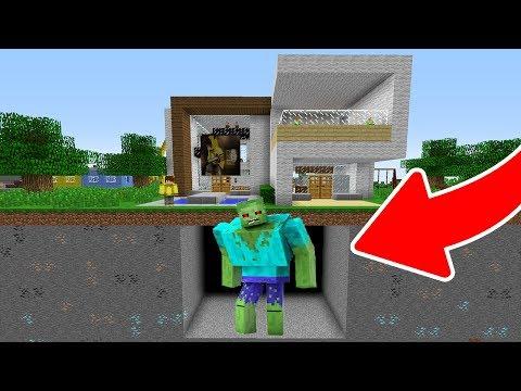 EVİMİN ALTINDA DEV MUTANT ZOMBİ BULDUM! 😱 - Minecraft