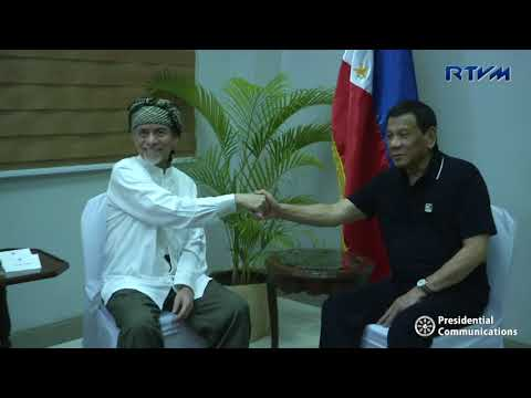 Meeting with Moro National Liberation Front (MNLF) Chair Nur Misuari