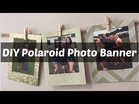DIY POLAROID PHOTO BANNER // NO POLAROID CAMERA NEEDED
