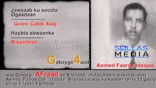 """( 4 ) Halacdheere """" Gabaygii Gooni Cabdi Xaaji """""""