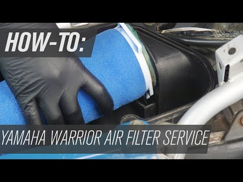 How To Change the Air Filter on a Yamaha Warrior 350