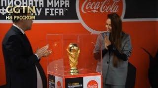 Кубок чемпионата мира по футболу FIFA прибыл в Екатеринбург