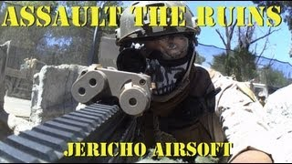 Assault The Ruins Jericho Airsoft Gameplay and Commentary