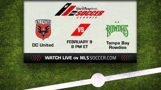 Disney Pro Soccer Classic: D.C. United vs Tampa Bay Rowdies - LIVE