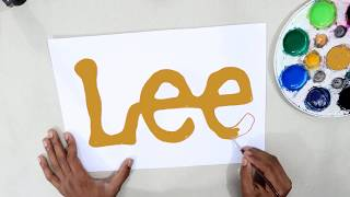How to draw the Lee logo @Lee