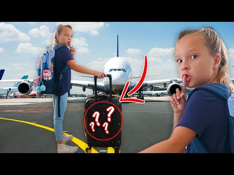 OLIVIA'S SECRET KIDS TRAVEL HACK ✈️ Where is she going?