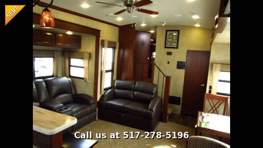 Awesome 2015 EverGreen Bay Hill 340RK, Fifth Wheel Rear Kitchen Design Ideas