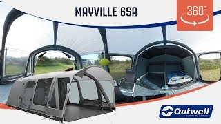 Outwell Mayville 6SA Tent - 360 video (2019)