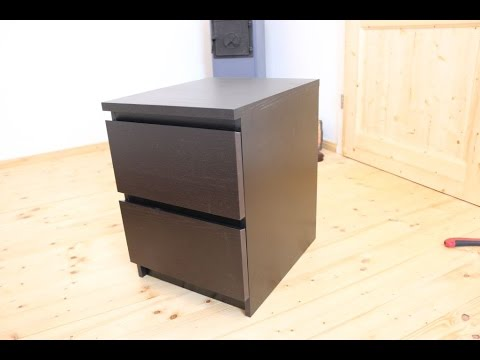 ikea malm nachttisch aufbau deutsch von gewusstwie youtube. Black Bedroom Furniture Sets. Home Design Ideas
