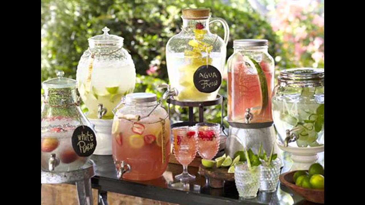 Summer garden party decorations youtube for Summer drinks for party