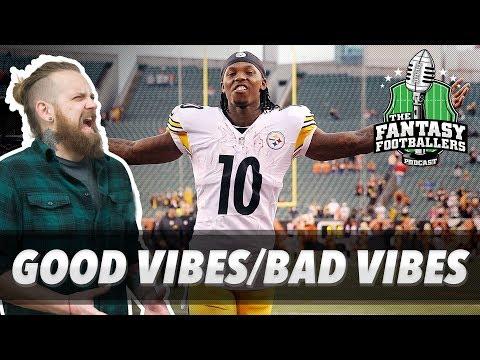 Fantasy Football 2017 - Good Vibes/Bad Vibes, Rising Stars, Wk 1 News - Ep. #428