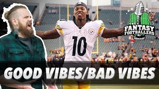 Fantasy football 2017 - good vibes/bad vibes, rising stars, wk 1 news - ep. #428