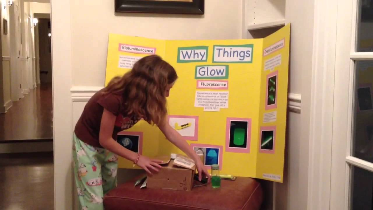 Peyton's First Grade Science Fair Project Glowing Water
