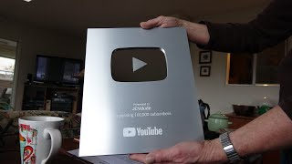 YouTube Award for JCVdude for reaching 100,000 subscribers - December 5, 2019