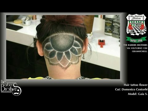 Tutorial Hair Tattoo Flower - The Barbers Brothers #Grammichele