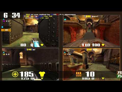 Quake 3 CPMA: QNC 09 TDM - France vs Sweden - Retribution (Q3DM7)