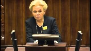 Krystyna Skowrońska - wystąpienie z 8 stycznia 2014 r.