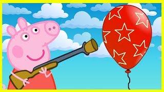 Свинка Пеппа с ружьём - Киндер Сюрприз - Миньоны - Мультик для детей - Peppa Pig - Kinder Surprise