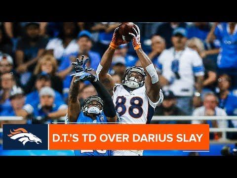 Demaryius Thomas' Leaping TD Grab Over Lions CB Darius Slay | Denver Broncos Highlights