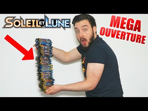 Mega Ouverture De 100 Boosters Pokémon Soleil Et Lune 1