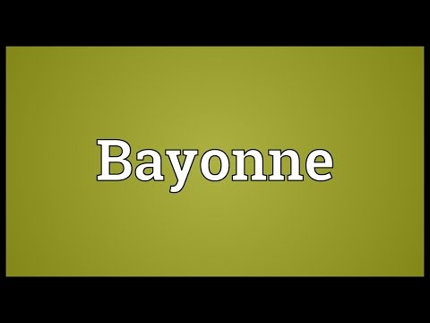 Bayonne Meaning