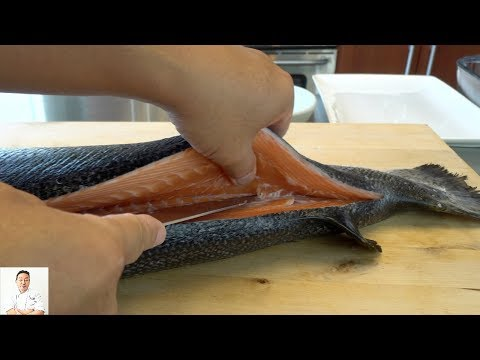 Japanese Technique | How To Fillet A Whole Salmon HD