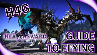 How To Guide - Flying in FFXIV Heavensward - Intro to Aetheryte Currents and The Black Chocobo