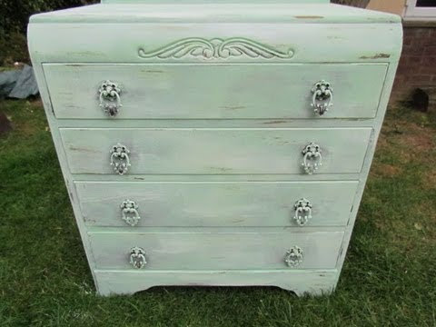 diy vintage shabby chic furniture youtube. Black Bedroom Furniture Sets. Home Design Ideas
